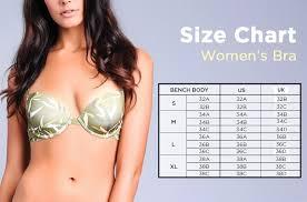 Bench Brief Size Chart Bench Tur0032 Ladies 2 In 1 Push Up Bra
