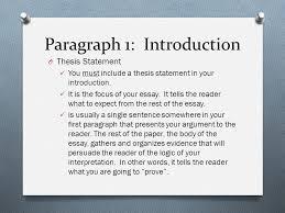paragraph essay outline part i paragraph introductory  4 paragraph