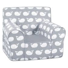 grab n go kid s foam chair with handle whale tales storm white twill with pebbles com