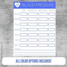 Track My Blood Pressure Printable Blood Pressure Tracker Blood Pressure Monitoring Etsy