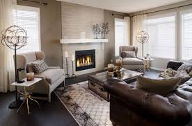 ... Medium Size of Living Room Design:living Room Decor Ideas Brown Leather  Sofa Fireplace Trunk