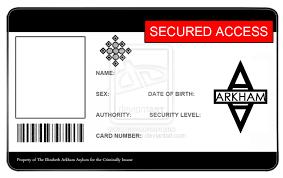 Printable Identification Card Blank Id Card Template
