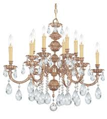 crystorama 2512 ob cl s oxford 12 light 30 inch olde brass chandelier