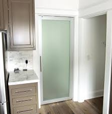 frosted glass doors in swing door decor bathroom for kitchen cabinets exterior pantry interior frameless uk