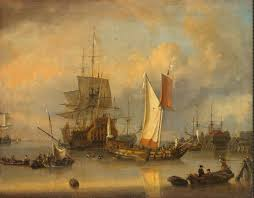 ships at sea in calm weather painting rietshoof jan claesz oil painting reion