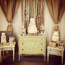 Vintage Wedding Decor Table And Backdrop Mashed Events