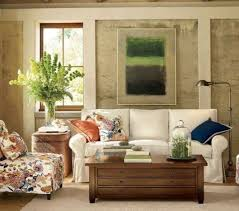 feng shui in living room in neutral and fl arm chair and indoor plant and wall