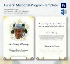 Memorial Pamphlet Template Memorial Program Template Word Free Helenamontana Info