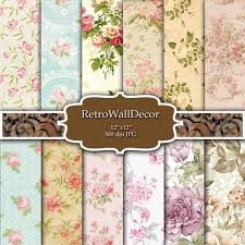 Buy Paper Flower Floral Digital Paper Flower Digital Paper Floral Background Rose Digital Paper Shabby Chic Floral Pattern Paper 8 5x11 Buy 2 Get 1 Free