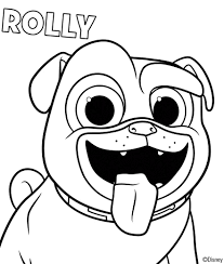 Puppy Dog Pals Coloring Sheets Rolly Coloring In 2019 Dog