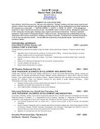 Mba Career Summary Resume