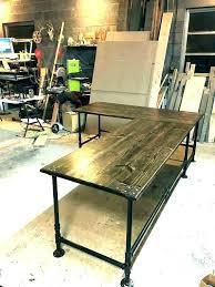 diy u shaped desk. Modren Desk Diy L Shaped Desk U Computer Door Industrial Pipe Easy Office 7 With Hutch  Ikea On Diy U Shaped Desk