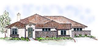 House Plan at FamilyHomePlans comMediterranean Southwest House Plan Elevation