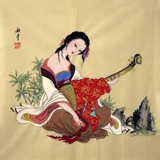 chinese paintings beautiful las beautiful las 69cm x 69cm 27 x 27 3801006