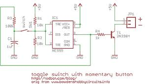 on off switch circuit diagram the wiring diagram momentary button as on off toggle using 555 todbot blog circuit diagram