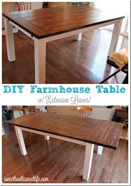 diy farmhouse table with extension leaves