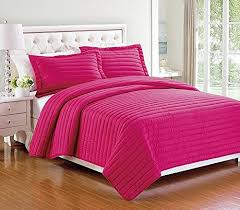 3 pieces High Quality Solid Color Quilt Bedspread Coverlet Set ... & 3 pieces High Quality Solid Color Quilt Bedspread Coverlet Set with Pillow  shams (King, Adamdwight.com