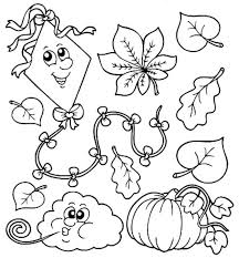Small Picture Fall Coloring Pages For Kids anfukco