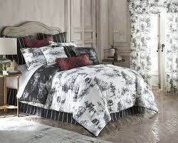 back in black toile duvet cover queen cream bedding set sets
