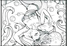 Mermaid Coloring Pages For Adults Printable Mermaids Sexy Gr Stockware