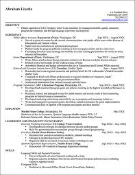 Example Of Federal Government Resume
