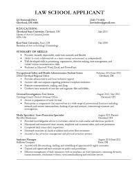 Sample Law School Application Resume – Foodcity.me