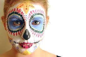 skull face painting sugar paint tutorial design for