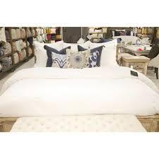 undefined harlow white linen blend king duvet cover