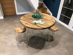 Round hairpin coffee table best coffee table 93 fascinating round, source: Hairpin Round Dining Tables Upcycle U K