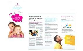 Education Brochure Templates Educational Pamphlet Template Kierralewis Com
