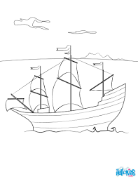 The Mayflower Ship Coloring Pages