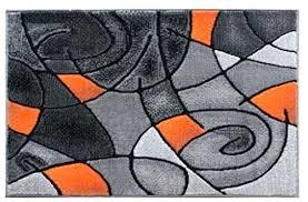 orange and grey rug rugs modern contemporary area rug mat orange grey black 2 feet x orange and grey rug