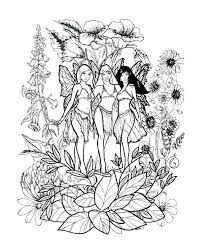 Fairy Coloring Pages For Kids Free Fairy Coloring Pages For Adults