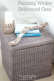 Painting Wicker Driftwood Grey