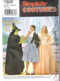 Halloween Costume Patterns New Wizard Of Oz Costume Simplicity Sewing Pattern Adults Or Kids