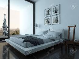 Schönes Schlafzimmer Interieur Mit Modernen Möbeln Und Gemütliches