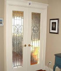 interior glass french doors interior stained glass french doors style