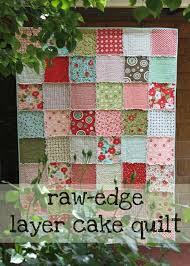 Raw-edge Layer Cake Quilt - Free Quilting Tutorial | Layer cake ... & Rag quilt Adamdwight.com