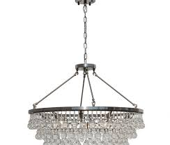 celeste glass drop crystal chandelier brushed nickel
