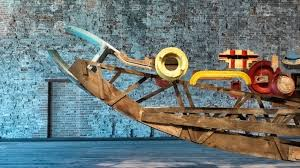 recycled vespa office chairs. Turkey Presents A Huge Ship Made From 4 Tons Of Reused Materials In Venice Recycled Vespa Office Chairs