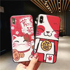 <b>3D</b> Relief Chinese <b>New</b> Year <b>Lucky Cat</b> Coque Case for Apple ...