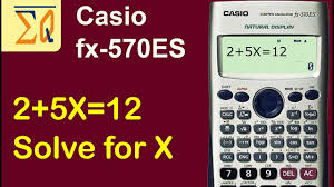 casio fx570es solving for x in an equation