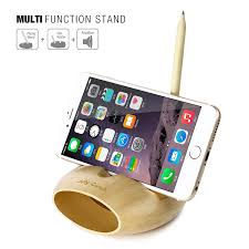 cell phone charging dock jelly comb desk wood holder stand mobile phone holder sound amplifier for