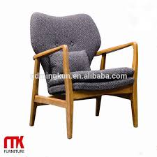 lasted long hot wooden frame armchair with fabric cushion