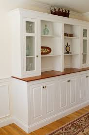 astounding white dining room storage furniture featuring light brown wooden top board plus hutch with glass