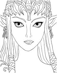 Legend Of Zelda Twilight Princess Coloring Page Free Printable