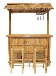 bamboo tiki bar set natural