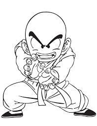 670x867 dragon ball z krillin coloring page free printable coloring