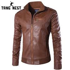 solid color classic designer men leather jacket 2018 hot men pu leather jacket slim mandarin
