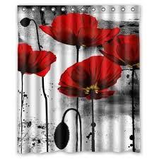 Amazon.com: Beautiful Vintage Red Poppy Flower Ink Painting Art ...